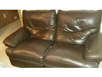 2 seater settee and single chair