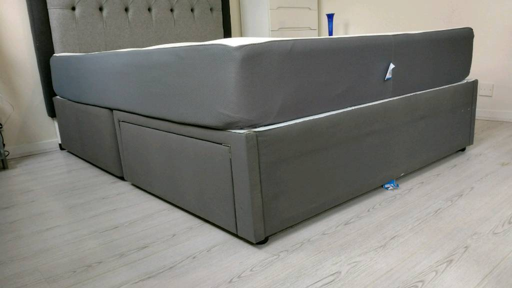 Ikea solvorn king size Divan base with two drawers | in Hackney ...