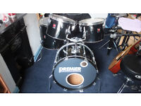 VINTAGE WELL USED PREMIER 4 DRUM SHELL SET