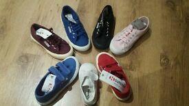 Job lot of children's SUPERGA canvas shoes