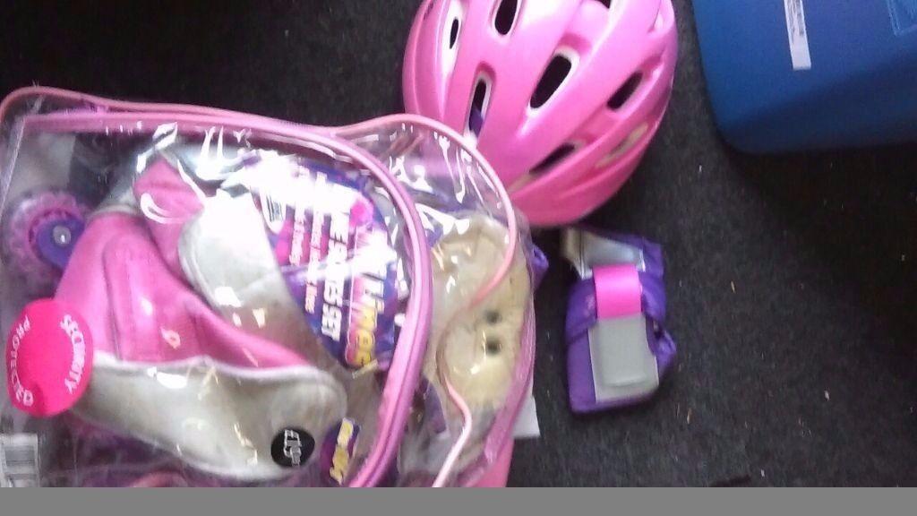 Triline skates set pink size 11