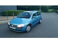 2002 52 reg VAUXHALL CORSA 1.2 COMFORT(WITH A/C) 5 DR MANUAL.12 MONTHS MOT,LOW MILES 78K,VERY CLEAN