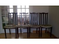 Dining chairs @ £10 each or £35 for all four