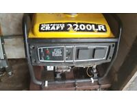 PowerCraft 2200LR Petrol 4 Stroke Electric Generator with Handle & Stand on Castors