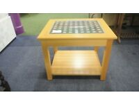 Lightwood Coffee Table With A Glass Top