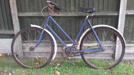Looking for a project? Vintage bicycle in need of restoration.