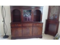 Solid wood sideboard/display cabinet