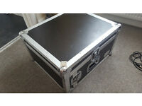 Flight case for mixer and amps etc 11 units by 4 units great quality (spider)