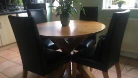 Hudson round dining table with 5 chairs