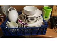 Used dinner plates and quarter plates for sale