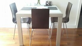 Silver Kitchen TABLE WITH CHAIRS, EXTENDABLE, COLLECTION Only