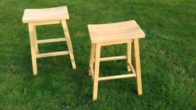 stools x 2.very good condition 2 ft high