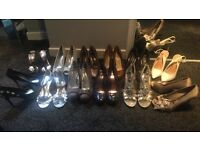 12 pairs of high heels size 7/8 £20
