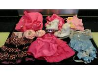 Build a bear toy clothes, carrier and shoes
