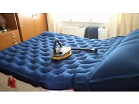 Double blow up mattress and pump