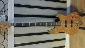 FENDER USA JAZZ DELUXE AMBER FLAME BASS