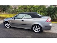 Saab 9-3 Vector Convertible REDUCED 150bhp Grey with leather 2 litre petrol