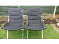 Two foldable camping chairs. REDUCED