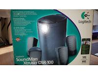 Logitech SoundMan Xtrusio DSR-100 5-Piece Computer Speakers