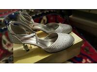 Silver sandals size 5