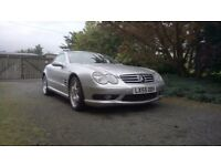 2005 (55) MERCEDES SL CLASS SL500 ROADSTER, 7 GTronic 2 OWNERS FROM NEW