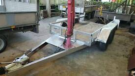 indespension 2700kg gd trailer with crane and ramps