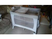 Mother care travel cot with change table and bassinet