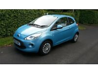 2010 Ford Ka Style 1.2 only 42000 miles Metallic Blue One owner