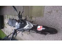 Keeway RKS 125cc motorcycle with very low mileage. and in very good condition