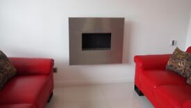 GAS Fire Flueless (no chimney required) CVO Angel natural gas 3.5kw/2.7kw wall mounted modern