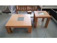 BRAND NEW Zina Coffee Table & Matching Lamp/Side Table **CAN DELIVER**