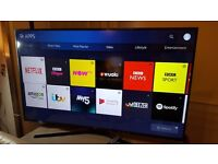 Samsung 60-inch SUPER Smart 4K UHD HDR LED TV-60ku6000,built in Wifi,Freeview,Netflix,Fully Working