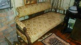 Edwardian mahogany framed settee