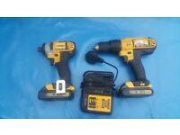 Dewalt 18V Combi Hammer Drill & Impact Drive