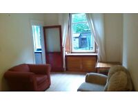 2 bedroom (1 doub and 1 sing.) flat between Haymarket and Fountain Park