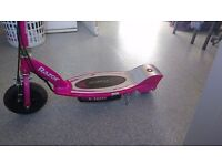 Pink razor e electric scooter