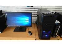 """Custom Gaming PC with 22"""" Dell Monitor"""