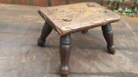 ANTIQUE STOOL. LINCOLN.