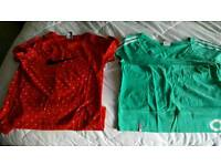 Ladies sports tops size 8-10