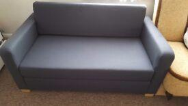 IKEA ULLVI Two Seat Sofa Bed Ransta Dark Blue (Navy) excellent condition