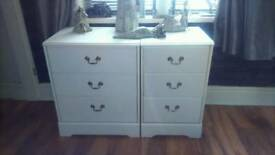 White drawers sets reduced for quick sale