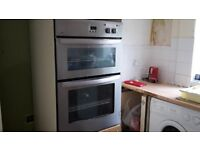 double electric oven removed from kitchen being refitted