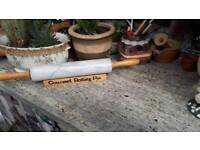 Marble rolling pin on stand