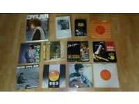 12 x bob dylan singles / books collection