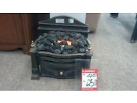 CAST IRON electric fire - BRITISH HEART FOUNDATION
