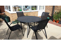 GARDEN/PATIO TABLE AND CHAIRS SET
