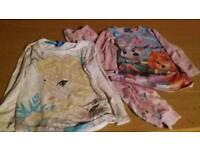 Girls aged 3-4 disney elsa frozen long sleeve top & paw patrol pyjamas