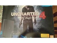 PS4 Playstation 4, (500GB),Jet Black, HDR, Uncharted 4 (Tm) Boxed Brand New.