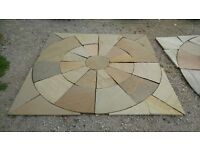 BRAND NEW 2.03M STONE CIRCLE / SQUARE GARDEN PAVING KITS.