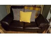 Brown 2 seat leather sofa. Excellent condition.